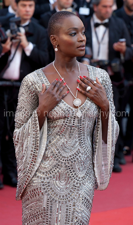 Miriam Odemba arriving to the Closing Ceremony and awards at the 70th Cannes Film Festival Sunday 28th May 2017, Cannes, France. Photo credit: Doreen Kennedy