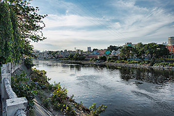 Image shows general view of the River Pasig from the Guadalupe district of Manila. 20/04/2015.<br /> <br /> Credit should read: Cpl Mark Larner RY<br /> <br /> Exercise Civil Bridge is being conducted by elements of 77 Brigade &ndash; a specialist British military unit that is working alongside the government and disaster relief organisations as part of an annual overseas training exercise. <br /> <br /> Their mission during the two-week deployment will be to look at examples of the existing Philippine earthquake contingency response plans and, working with Philippine colleagues, make suggestions that will help save lives by enhancing the country&rsquo;s ability to respond to an earthquake in an urban setting.