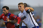 Ian Henderson and Nick Anderton during the The FA Cup 3rd round match between Barrow and Rochdale at Holker Street, Barrow, United Kingdom on 7 January 2017. Photo by Daniel Youngs.