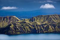 Fögrufjoll Mountains by lake Langisjór. View from Mount Breiðbakur. Interior of Iceland. Fögrufjöll við Langasjó. Útsýni frá Breiðbak.