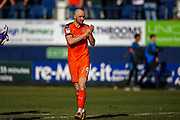 Luton Town forward Danny Hylton thanks the fans at the end of the EFL Sky Bet League 1 match between Luton Town and Coventry City at Kenilworth Road, Luton, England on 24 February 2019.
