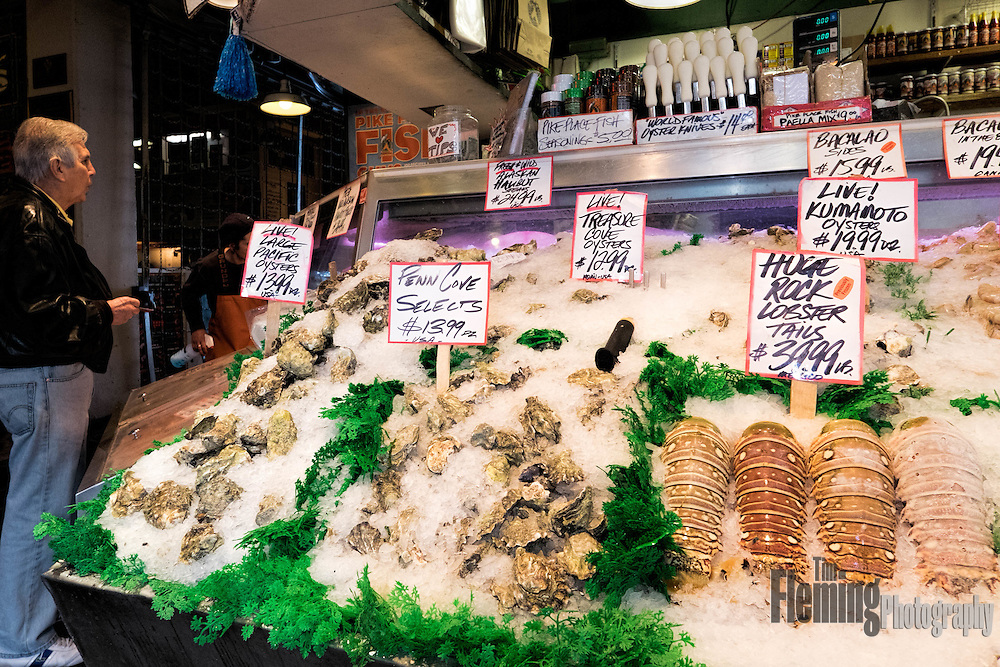 Pike's Place Market, in Seattle, Washington, is an open air market with a wide variety of vendors.