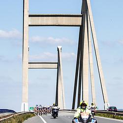 WIELRENNEN, Ladiestour, Tiel: passage Willem Alexanderbrug
