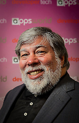 "© Licensed to London News Pictures. 23/10/2013. LONDON, UK Apple co-founder STEVE WOZNIAK drew the crowds at Apps World Europe from Earls Court  today, 23rd October 2013, where he talked about the future of mobile technology and apps. Wozniak said, ""apps are so big, there is so much of a market, that if you have a winner you make a lot of money"".. Photo credit : David Fearn/LNP"