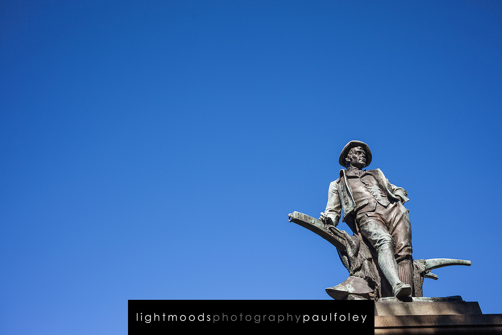 Statue of Robert Burns near Art Gallery of NSW, Sydney Australia