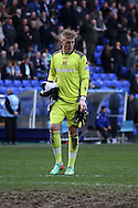 Carlisle United&rsquo;s goalkeeper Jordan Pickford. Skybet football league 1 match, Tranmere Rovers v Carlisle United at Prenton Park in Birkenhead, England on Saturday 29th March 2014.<br /> pic by Chris Stading, Andrew Orchard sports photography.