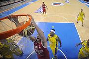 DESCRIZIONE : Porto San Giorgio Lega A 2013-14 Sutor Montegranaro VL Pesaro<br /> GIOCATORE : Marc Trasolini<br /> CATEGORIA : schiacciata special<br /> SQUADRA : Sutor Montegranaro VL Pesaro<br /> EVENTO : Campionato Lega A 2013-2014<br /> GARA : Sutor Montegranaro VL Pesaro<br /> DATA : 10/11/2013<br /> SPORT : Pallacanestro <br /> AUTORE : Agenzia Ciamillo-Castoria/C.De Massis<br /> Galleria : Lega Basket A 2013-2014  <br /> Fotonotizia : Porto San Giorgio Lega A 2013-14 Sutor Montegranaro VL Pesaro<br /> Predefinita :