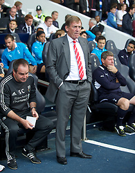 LONDON, ENGLAND - Sunday, September 18, 2011: Liverpool's manager Kenny Dalglish during the Premiership match against Tottenham Hotspur at White Hart Lane. (Pic by David Rawcliffe/Propaganda)