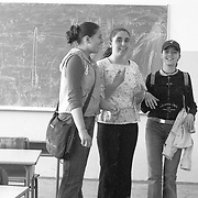 Girl in a school in Mitrovice, Kosovo.