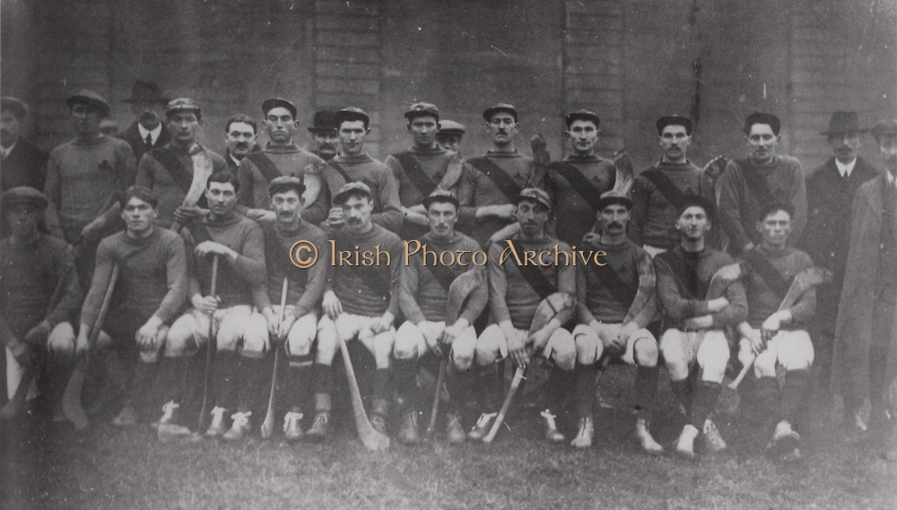Tipperary (Boherlahan) - All-Ireland Hurling Champions 1916. Back Row: T Leahy ( Hon Sec), D O'Brien, P Fogarty, N Croke, Anthony Carew (Sec Co Board), W Dwyer, Tom Dwan, A O'Donnell, J Doherty, T Shannahan, R Walsh, J Collinson, M Myers (Pres), W Dwyer.Front Row: J Nagle, M Leahy, J Murphy, W Dwyer, Hugh Shelly, J Fitzgerald, Jn Leahy (capt), D Walsh, P Leahy, J Power.
