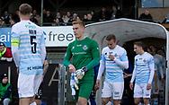 FODBOLD: FC Helsingør går på banen til kampen i NordicBet Ligaen mellem FC Helsingør og HB Køge den 17. marts 2019 på Helsingør Stadion. Foto: Claus Birch