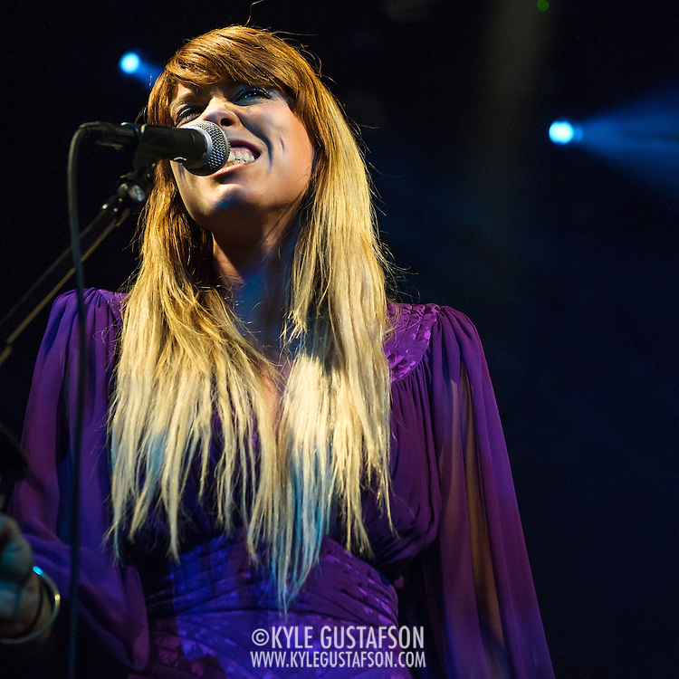 "WASHINGTON, DC - October 10th, 2013 - Hannah Hooper of Grouplove performs at The Hamilton in Washington, D.C. The band's 2011 hit ""Tongue Tied"" sold over 1 million copies, was featured in an iPod Touch commercial and was covered on the TV show Glee. (Photo by Kyle Gustafson / For The Washington Post)"