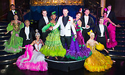 Strictly Ballroom The Musical <br /> Press photocall / publicity stunt <br /> at Cafe de Paris, London, Great Britain <br /> 14th February 2018 <br /> <br /> <br /> <br /> Will Young <br /> <br /> and full company <br /> <br /> Photograph by Elliott Franks