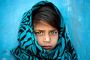 Young and shy girl from Rajasthan, India.