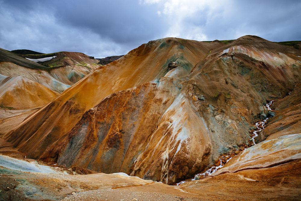 Rhyolite mountains, Landmannalaugar, Fjallabak Nature Reserve, Iceland
