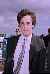 LORD BUCKHURST son of Earl De La Warr, at a race meeting in Sussex on 30th July 1997.MAS 108