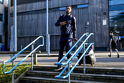 Chris Taylor of Bristol Flyers Bristol Flyers arrives at London Lions - Photo mandatory by-line: Robbie Stephenson/JMP - 10/04/2019 - BASKETBALL - UEL Sports Dock - London, England - London Lions v Bristol Flyers - British Basketball League Championship