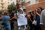 Roma, 14/09/2008: Protesta dei lavoratori Alitalia davanti al Ministero del Lavoro..©Andrea Sabbadini