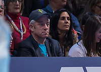 Tennis - 2019 Nitto ATP Finals at The O2 - Day Seven<br /> <br /> Semi Finals: Dominic Thiem (Austria) Vs. Alexander Zverev (Germany)<br /> <br /> Former Speaker of the House John Bercow watches on after seeing his player Roger Federer (Switzerland) crash out <br /> <br /> COLORSPORT/DANIEL BEARHAM<br /> <br /> COLORSPORT/DANIEL BEARHAM