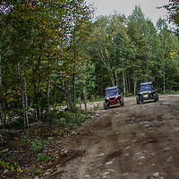 2 Polaris Rzr 1000's side by side on the trail, rzr, Polaris Rzr 1000, NH, New Hampshire, New England, atv, utv, sxs, ohrv, orv, trail riding, hobby, adventure, sports, therapy, Click Stock Photography