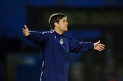 Bristol Rovers assistant manager Darrell Clarke gestures during the match - Photo mandatory by-line: Rogan Thomson/JMP - Tel: Mobile: 07966 386802 - 21/12/2013 - SPORT - FOOTBALL - Memorial Stadium, Bristol - Bristol Rovers v Portsmouth - Sky Bet League Two.