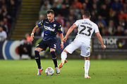 Barry Douglas (3) of Leeds United during the EFL Sky Bet Championship match between Swansea City and Leeds United at the Liberty Stadium, Swansea, Wales on 21 August 2018.