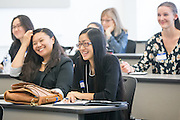 Kymberly Okamoto, Amanda Tran, Hannah Chapman during the first event of the Mihaylo College of Business and Economics Women's Leadership Program at California State University Fullerton  on Friday, Nov. 6, 2015 in Fullerton, California.