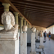 The Archaeological Museum of the Athenian Agora in the Hellenistic Stoa of Atallos in Athens Greece
