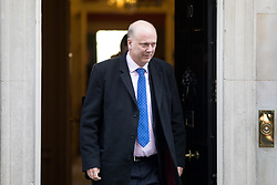 © Licensed to London News Pictures. 30/01/2018. London, UK. Transport Secretary Chris Grayling leaving Downing Street after attending a Cabinet meeting this morning. Photo credit : Tom Nicholson/LNP