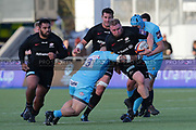Worcester Warriors tighthead prop Christian Judge (3) tackles Saracens tighthead prop (3) during the Premiership Rugby Cup match between Saracens and Worcester Warriors at Allianz Park, Hendon, United Kingdom on 11 November 2018.