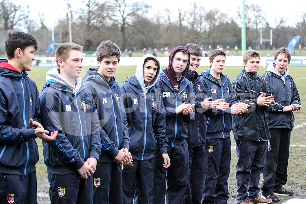 Todays guard of honour during the Green King IPA Championship match between London Scottish &amp; Moseley at Richmond, Greater London on 21st February 2015<br /> <br /> Photo: Ken Sparks | UK Sports Pics Ltd<br /> London Scottish v Moseley, Green King IPA Championship, 21st February 2015<br /> <br /> &copy; UK Sports Pics Ltd. FA Accredited. Football League Licence No:  FL14/15/P5700.Football Conference Licence No: PCONF 051/14 Tel +44(0)7968 045353. email ken@uksportspics.co.uk, 7 Leslie Park Road, East Croydon, Surrey CR0 6TN. Credit UK Sports Pics Ltd