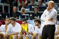 Head coach of Serbia Dusan Ivkovic during the third-place basketball match between National teams of Serbia and Lithuania at 2010 FIBA World Championships on September 12, 2010 at the Sinan Erdem Dome in Istanbul, Turkey. Lithuania defeated Serbia 99 - 88 and win placed third.  (Photo By Vid Ponikvar / Sportida.com)