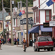 Skagway has a population of under 1000, however, the population doubles in the summer tourist season in order to deal with more than 900,000 visitors mostly from cruise ships.<br /> Photography by Jose More