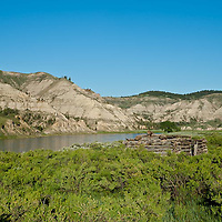 old homestead along the missouri river, umrbnm, montana