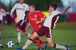 LIVERPOOL, ENGLAND - Tuesday, January 11, 2011: Liverpool's Jay Spearing in action against Sunderland during the FA Premiership Reserves League (Northern Division) match at the Kirkby Academy. (Pic by: David Rawcliffe/Propaganda)
