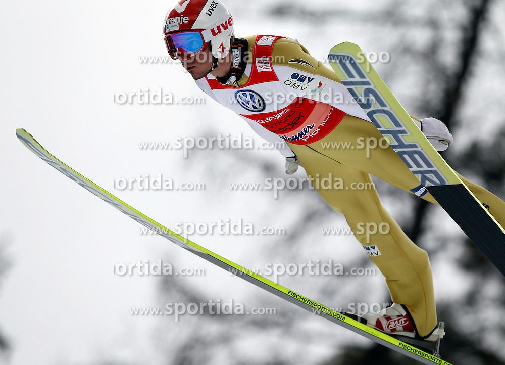 18.03.2012, Planica, Kranjska Gora, SLO, FIS Ski Sprung Weltcup, Einzel Skifliegen, im Bild Robert Kranjec (SLO),  during the FIS Skijumping Worldcup Individual Flying Hill, at Planica, Kranjska Gora, Slovenia on 2012/03/18. EXPA © 2012, PhotoCredit: EXPA/ Oskar Hoeher.
