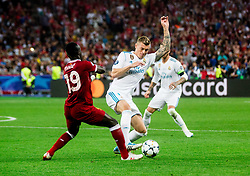 Sadio Mané of Liverpool vs Toni Kroos of Real Madrid during the UEFA Champions League final football match between Liverpool and Real Madrid at the Olympic Stadium in Kiev, Ukraine on May 26, 2018.Photo by Sandi Fiser / Sportida