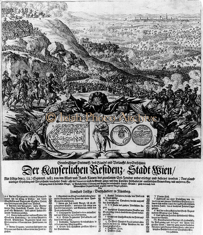 Battle of Vienna 1683. A coalition of forces halted the advance of teh Ottoman Turks who had beseiged Vienna for two months.
