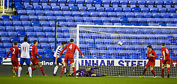 READING, ENGLAND - Wednesday, March 12, 2014: Reading's Harry Cardwell scores the second goal against Liverpool during the FA Youth Cup Quarter-Final match at the Madejski Stadium. (Pic by David Rawcliffe/Propaganda)