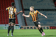AJ Leitch-Smith (Port Vale) celebrates scoring their second goal during the Sky Bet League 1 match between Doncaster Rovers and Port Vale at the Keepmoat Stadium, Doncaster, England on 26 January 2016. Photo by Mark P Doherty.