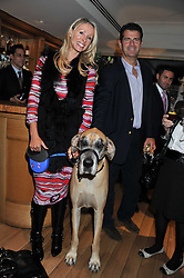 ANDREW & BELINDA PISKER and their dog at the 10th anniversary of George in association with The Dog's Trust held at George, 87-88 Mount Street, Mayfair, London on 13th September 2011.