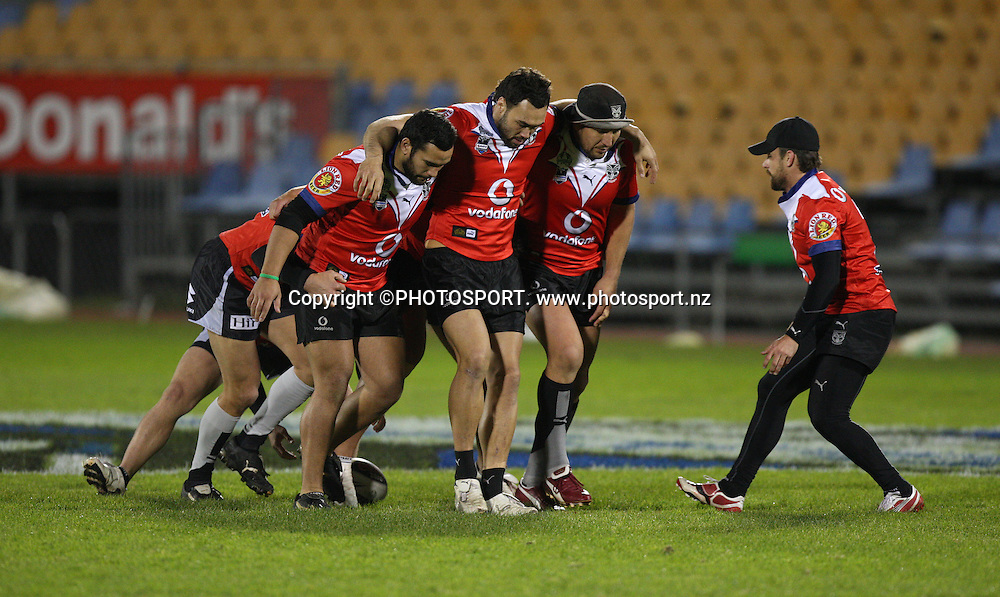 Scrum practice. Vodafone Warriors Training Session, Mt Smart Stadium, Auckland. Wednesday 06 August 2008. Photo: Simon Watts/PHOTOSPORT