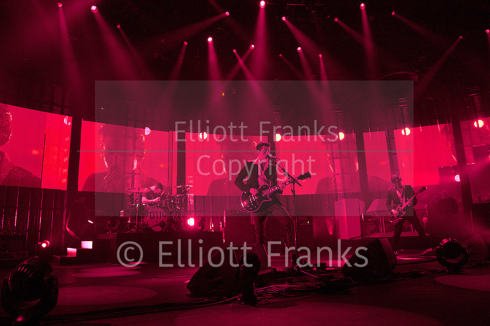 Arctic Monkeys<br /> iTunes Festival 2013<br /> The Roundhouse, Camden, London, Great Britain <br /> 9th September 2013 <br /> <br /> Alex Turner<br /> Arctic Monkeys<br /> <br /> <br /> Photograph by Elliott Franks