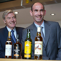 FREE TO USE PIC....Scotch whisky distiller Edrington, maker of The Famous Grouse, today (Tuesday 27th May) announced that its operations director Ian Curle (right) has been selected to succeed Ian Good (left) as chief executive when the<br />latter steps down from the role next April. In the meantime, Mr. Curle will assume the role of deputy chief executive<br />with immediate effect. Aged 41, and an honours graduate of Glasgow University, Mr. Curle is the youngest chief executive in Edrington's 150 year history. Edrington said that Mr. Curle would work closely with Mr Good prior to becoming chief executive at the start of the group's new financial year,<br />from which time Mr. Good, presently chairman and chief executive, would become executive chairman. Mr. Good (59), who is also chairman of the Scotch Whisky Association and one of the industry's best known figures, has been chief executive of Edrington since 1989.<br />For further information, contact: Emrys Inker, corporate affairs director, The Edrington Group. Tel: 01738 493781 or 07776164411<br /><br />Picture by Graeme Hart.<br />Copyright Perthshire Picture Agency<br />Tel: 01738 623350  Mobile: 07990 594431