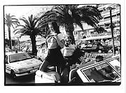 "Promoting ''Pornovista"" movie Cannes Film Festival 1995© Copyright Photograph by Dafydd Jones 66 Stockwell Park Rd. London SW9 0DA Tel 020 7733 0108 www.dafjones.com"