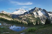 Mount Challenger and Whatcom Peak seen from Tapto Lake,North Cascades National Park