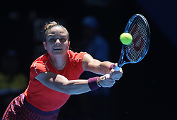 PERTH, Dec. 31, 2018  Maria Sakkari of Greece returns the ball during the women's single match against Serena Williams of the United States between the United States and Greece at Hopman Cup mixed teams tennis tournament in Perth, Australia, Dec. 31 , 2018. Maria Sakkari lost 0-2. (Credit Image: © Zhou Dan/Xinhua via ZUMA Wire)