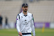 James Vince of Hampshirte before the Specsavers County Champ Div 1 match between Hampshire County Cricket Club and Middlesex County Cricket Club at the Ageas Bowl, Southampton, United Kingdom on 14 April 2017. Photo by Graham Hunt.