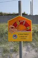 Ringbuoy on Aran Island beach County Galway Ireland