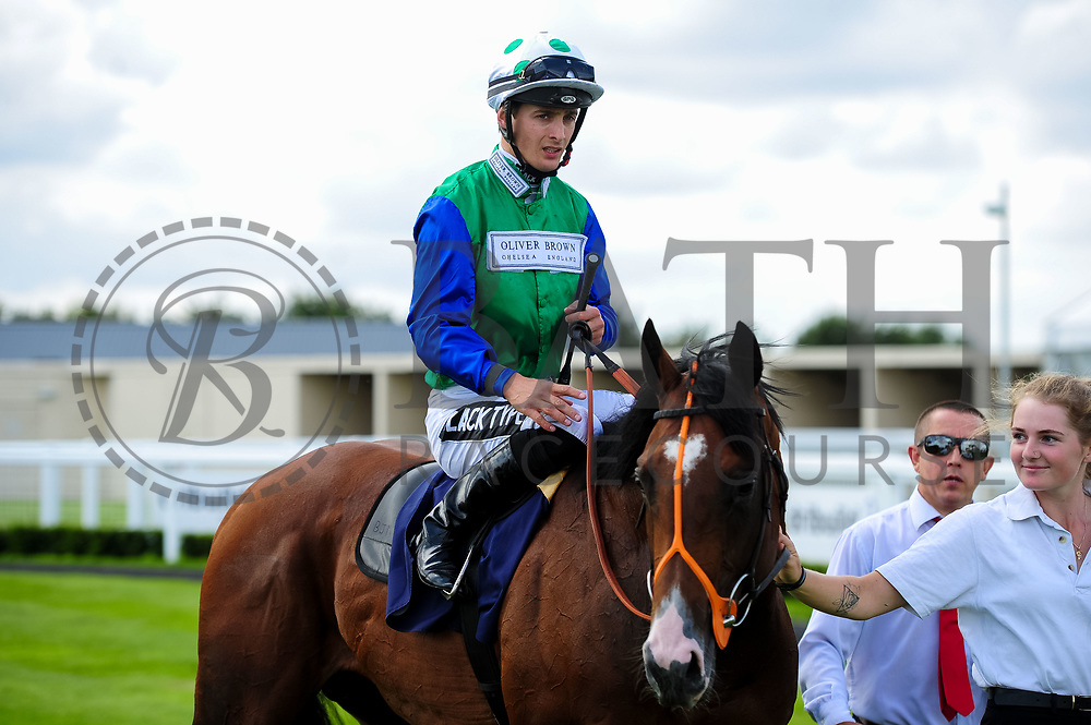 Amplify ridden by Harry Bentley and trained by Brian Meehan in the Weatherbys Racing Bank Handicap (Class 3) race. - Ryan Hiscott/JMP - 21/08/2019 - PR - Bath Racecourse - Bath, England - Race Meeting at Bath Racecourse
